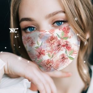 Accessories - New! In Stock! Floral Graphic Print Face Mask